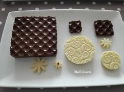 Socles et déco en chocolat