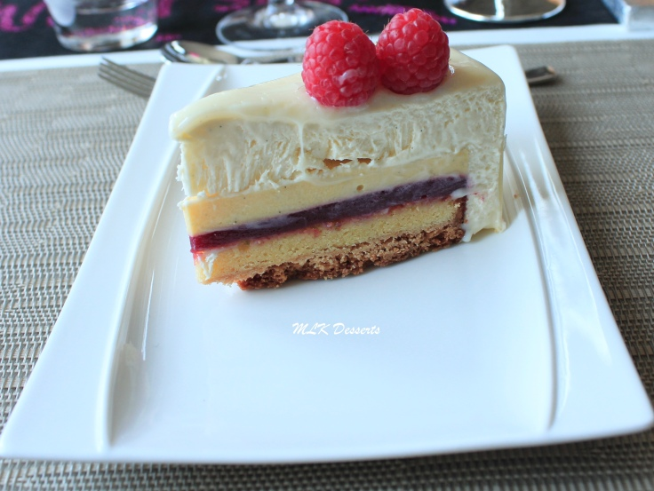 Coupe Entremet Vanille Framboise