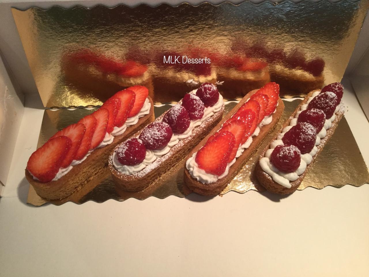 Sablé Breton aux fraises ou framboises chantillymascarpone