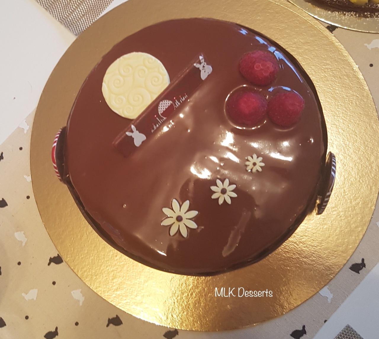 Entremet Chocolat Noir et Framboises