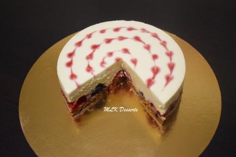 Cheesecake Framboises et Mûres