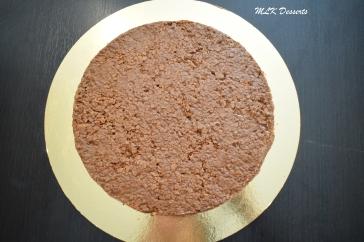 Base de l'entremet aux 3 chocolats Praliné croustillant