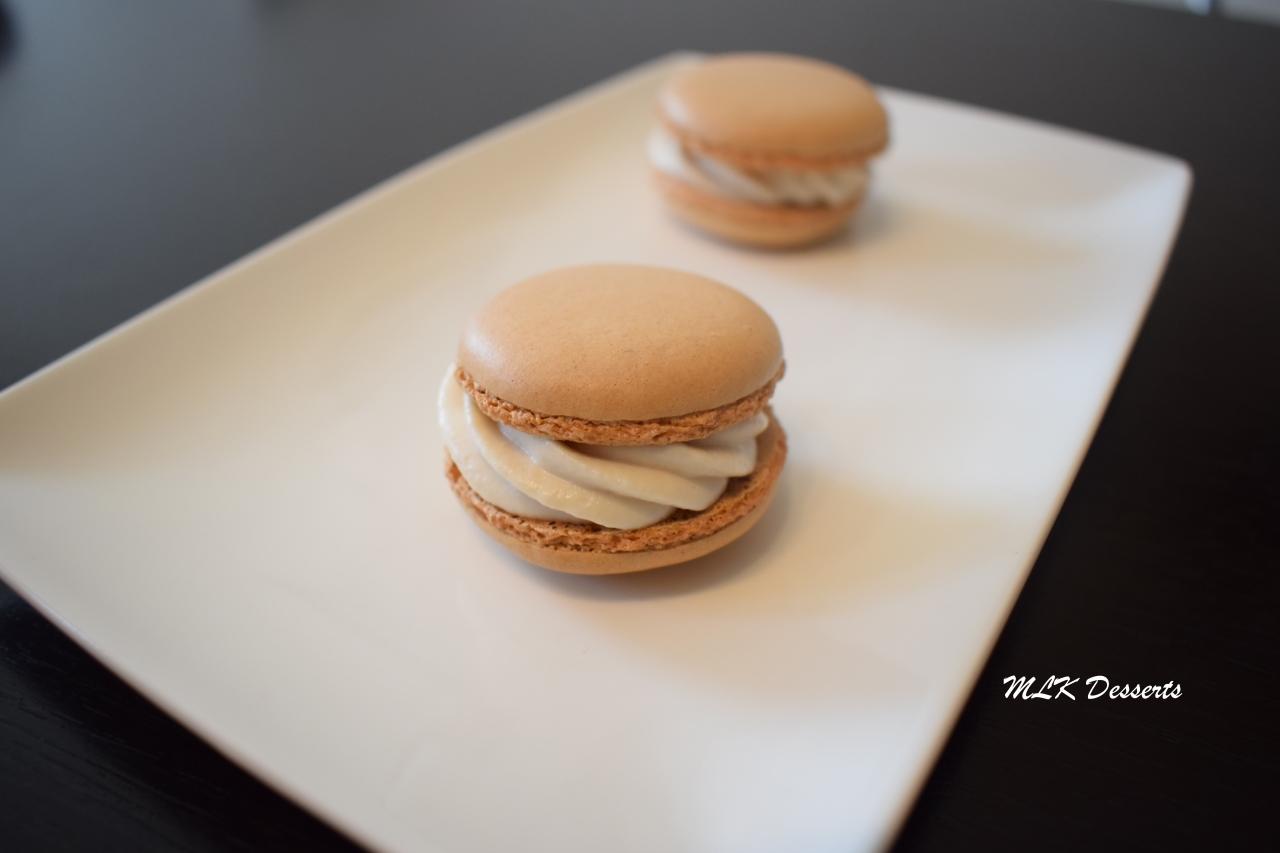 Macarons ganache ivoireframboise