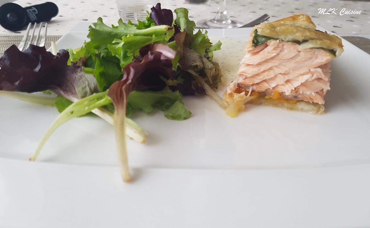 Saumon en croûte et sa julienne delégumes