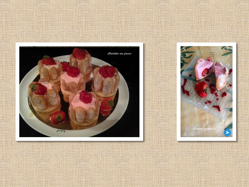 Charlottes aux fraises 🍓