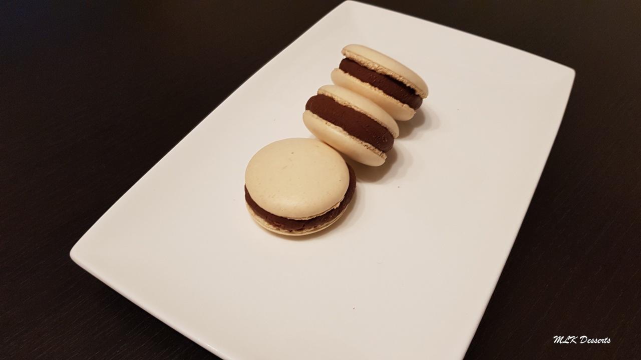Macarons ganache aux deuxchocolats