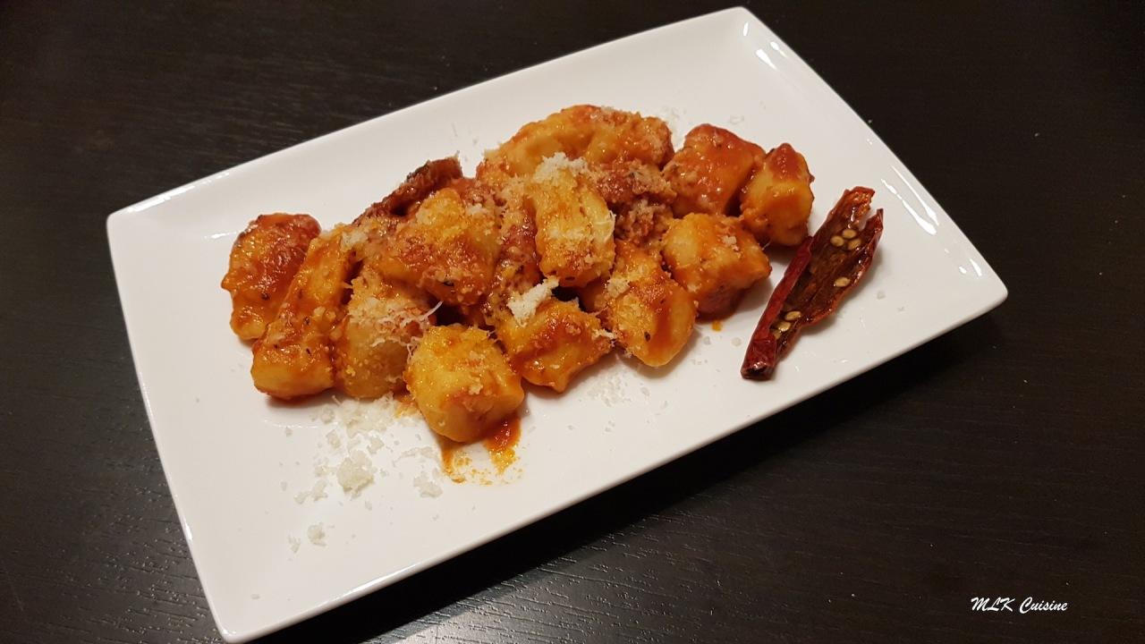 Gnocchis de pomme de terre à la sauce tomatemaison