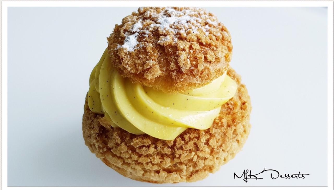 Choux crème pâtissièrevanille
