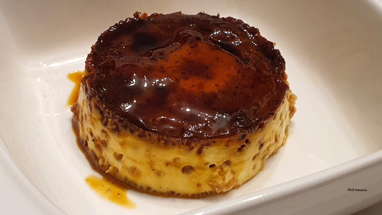Crème caramel à la vanille et fève detonka